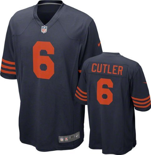 Chicago Bears Jay Cutler #6 NFL Big Boys Youth Alternate Game Jersey, Navy (Large ()