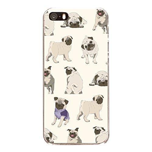 """Disagu SF-sdi-4558_1159#zub_cc6486 Design Schutzhülle für Apple iPhone SE - Motiv """"Pugs"""""""