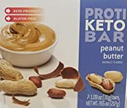 Proti Keto Bariatrix Peanut Butter Bar - 10g - Low Carb - Keto Diet - Weight Loss Snack Bar for Healthy Diets, Hunger Control, Appetite Suppressant,7 Count (1.09 OZ NET Weight 7.65 OZ)
