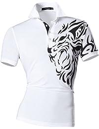 jeansian Men's Casual Slim Fit Short Sleeves Polo Shirt T-Shirt Tees Tops U007