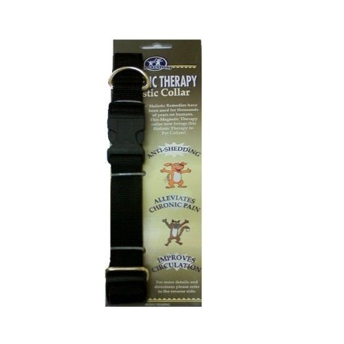 Pet Creations Magnetic Therapy Holistic Dog Collar Medium, Black