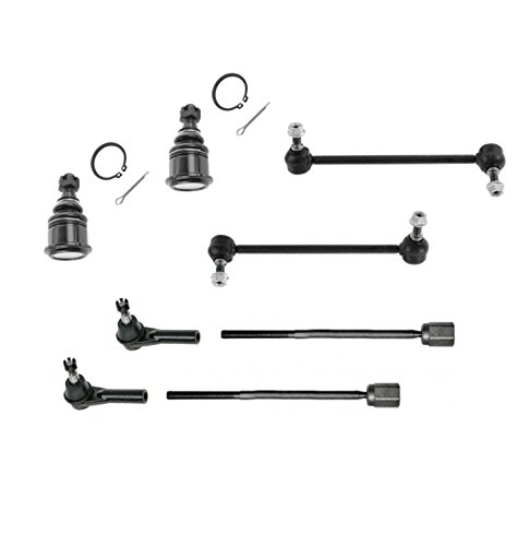 PartsW 8 Pc Front Steering & Suspension Kit for Ford Taurus Mercury Sable Inner & Outer Tie Rod Ends Lower Ball Joints and Sway Bar End (Mercury Sable Sway Bar Link)