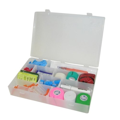 Unimed Solvent-Resistant Infinite Divider Storage Box, 4-20 Compartments, 2 3/16