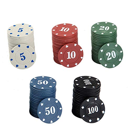 Chip Coin Chess Room Texas Hold'em Mahjong Machine Plastic Card Learning Reward Game Points 100 Yard Set