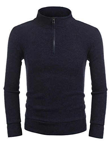Zip Ribbed Pullover - 6