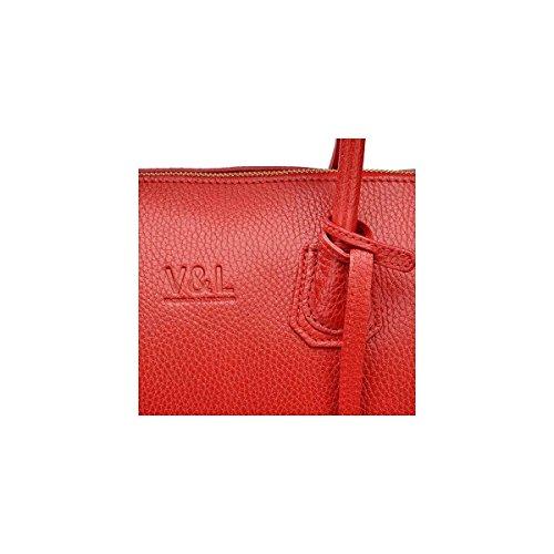 Bag Lucchino Pelle Donna 10370 Victorio amp; Rosso Satchel Hwqtv