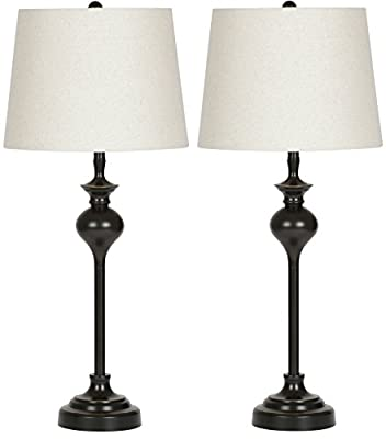 Virtue Home Hudson Table Lamp Set - 2 Pack