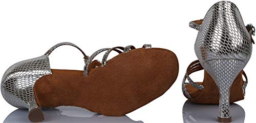 Mujer Danza Find Para Zapatillas Nice Plata De Poliuretano qYfTY