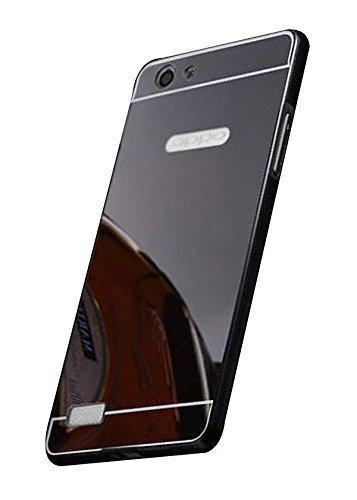 buy online eabca 77154 FINDX Luxury Mirror Back Plus Metal Bumper Case Cover: Amazon.in ...