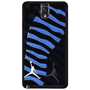 "Black and Blue Designer Shoe ""10's Retro Powder Blue"" Foot Print Hard Snap on Phone Case (Note 3 III)"