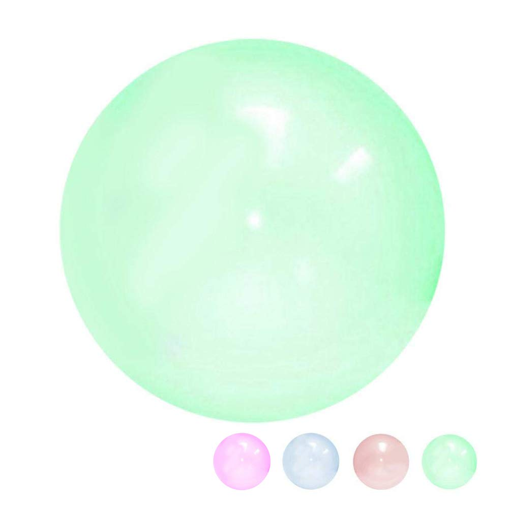 WYHDX Inflatable Beach Ball Bounce Balloon Balls for Outdoor Playing Fun, Competitive Sports, Soft TPR Transparent Floats Beach Pool Toys Ball for Kids Adults,Green