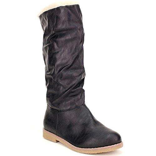 Noir Femme Cendriyon Celifa Black Chaussures Fourrée Botte SXqXpYA