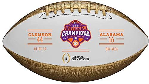 Wilson Clemson Tigers College Football Playoff 2018 National Champions Metallic Commemorative Football