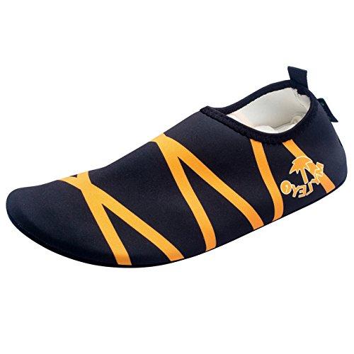 Panegy - Zapatos Calcetines de Agua para Deportes Acuáticos Surf Natación Buceo Yoga para Hombre Mujer Skin Shoes Slip On Barefoot Antideslizantes al aire libre - Verde Naranja - Talla EU 36-44 Naranja