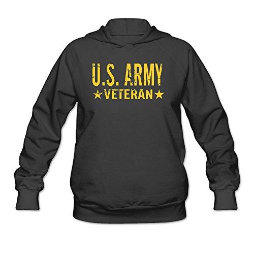 U.S. Army Veteran (Gold Stars) Women's Hooded Sweatshirt (Canon Lens Hoodie)