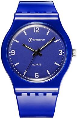 [子]クオーツ腕時計、学生レジャー防水時計ラウンドゴムピンバックルstrap-q