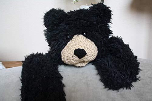 Faux Bear Rug Nursery Decor Blanket Minky Black Bear 33 X 49 -