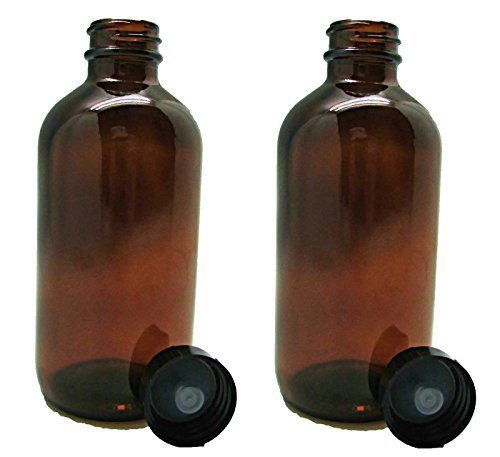 (16 oz Glass Amber Bottles with Poly Seal Cap to Store Your Cleaning Supplies or Essential Oils - 2)