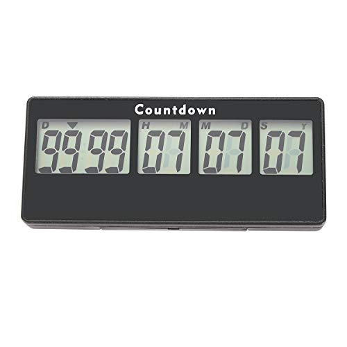 AIMILAR 9999 Days Digital Countdown Timer - Magnetic Count Up Down Timer for Trip Retirement Wedding Christmas New Baby Classroom Lab ()