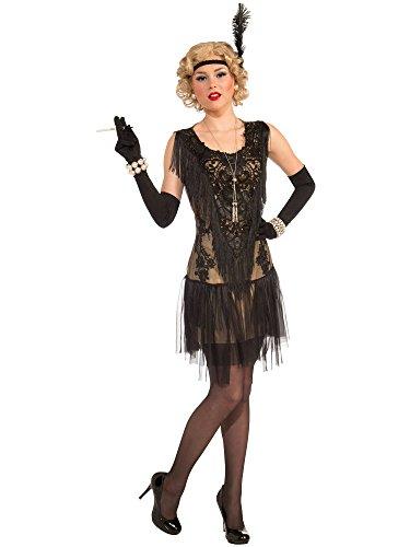 20's Costumes Uk (Forum Novelties Women's Roaring 20's Lacey Lindy Costume, Black, Standard)