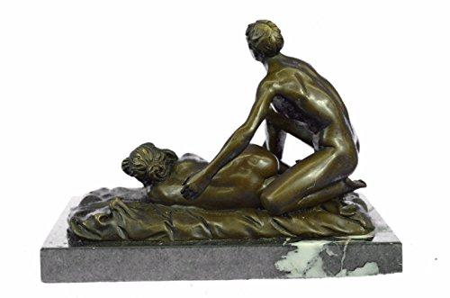 handmade european bronze sculpture 2 pcs original