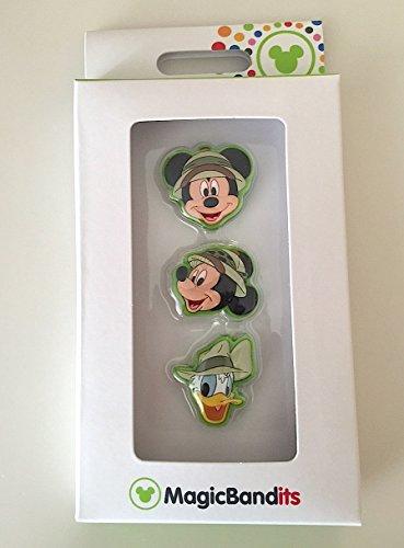 Disney Parks Mickey Mouse Safari Magic Band Bandits Set of 3 Charms Donald ()