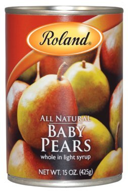 Roland: Whole Baby Pears in Light Syrup 15 Oz (12 Pack)
