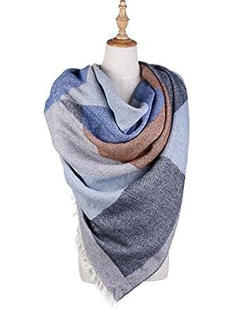 OTIOTI Womens Winter Poncho Shawl Cape Blanket Oversized Shawl Reversible Wrap Grey
