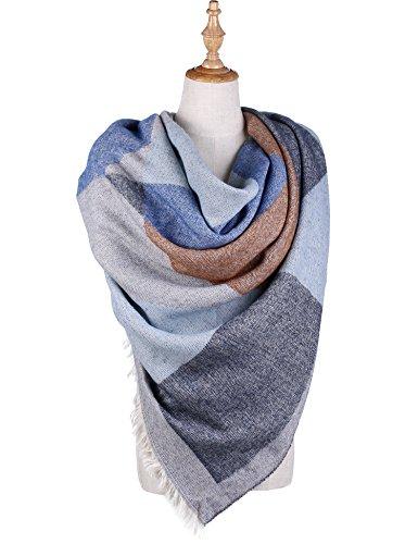 Blanket Square Scarves Tartan Checked