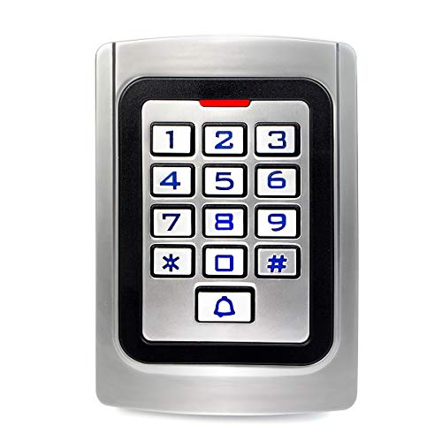 (Retekess K10EM-W Access Control Keypad Waterproof Wiegand 26 PIN Code RFID IP68 with 2000 Users for House Company )