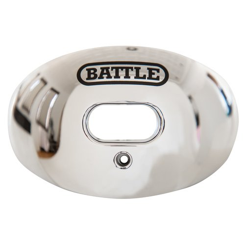 Battle Chrome Oxygen Senior Football Mouthguard - Various Colors (Silver)