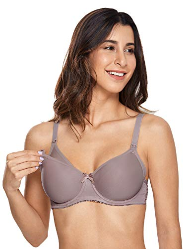 Gratlin Women's Padded Underwire Full Sling Support Maternity Nursing Bra Mochaccino 40E