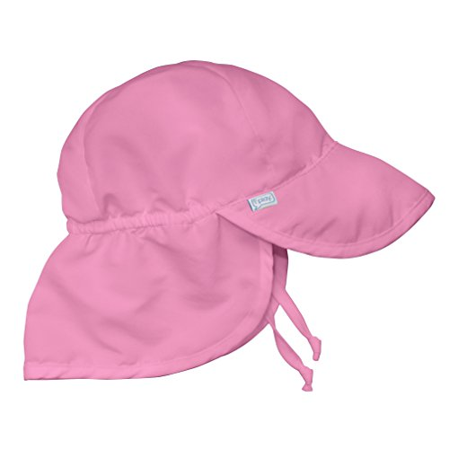 i play. Baby Flap Sun Protection Swim Hat, Hot Pink, 0/6mo