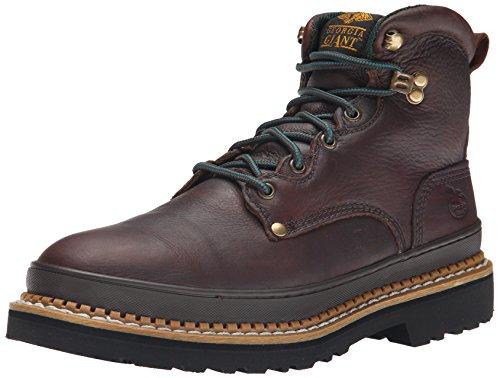 Georgia Giant 6in. Work Boot - Brown, Size 17, Steel Toe, Model# (Repairable Goodyear Welt)
