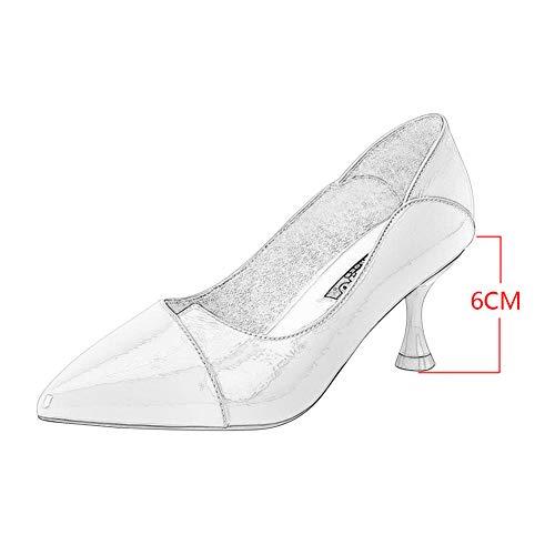 Festa Women Shallow Donna Alti Prom Yudesun Bocca Spring Tacco Rosso Col Shoes Lavoro Casual Club Scarpe Tacchi Classico UnxO8Fw
