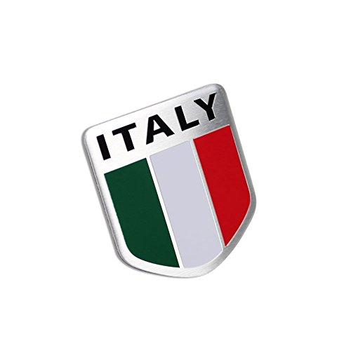 Generic Car Alloy Aluminum 3D Italy Italian Flag Emblem Badge Decals Sticker ()