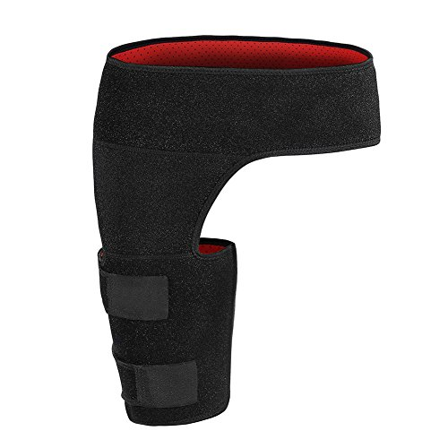 Giision Groin Support,Adjustable Neoprene Groin Strain Pain Wrap Compression Recovery for Groin Hip Thigh Quad Hamstring Joints Sciatica Nerve Pain Relief Strap by Giision (Image #1)