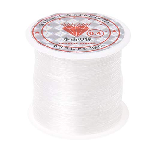 Thread - 70 M Roll 0.4mm Cord String Thread - Toddler Beads Rolling Threading Jewelry Thread Yarn Embroidery Polyester Thread Metal Floss Cotton Crochet Color Shiny Spool Thick Knit Elastic Stro ()