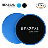 Reazeal Core Exercise Sliders, Dual Sided Gliding Discs Use on Carpet or Hard Floors. Core Sliders for Abdominal Exercise, Full Body Workout At Home, Gym or Travel