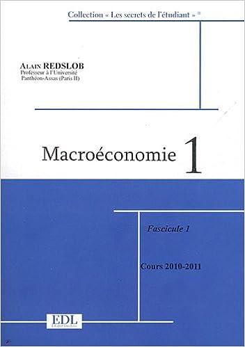 En ligne Macroéconomie : Tome 1, 2 volumes pdf