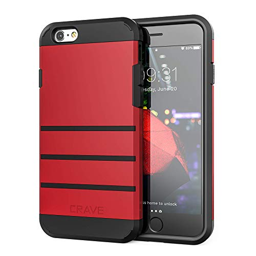 Crave iPhone 6S Case, iPhone 6 Case, Strong Guard Protection Series Case for Apple iPhone 6 6s (4.7 Inch) - Red