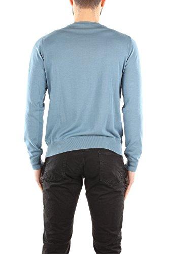 Prada Camiseta Manga Larga Hombre Algodón Blue Aviación UMA173AVIO Azul 52