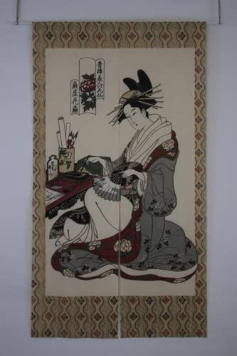 Made in Japan Noren Curtain Tapestry Suzuri to Onna