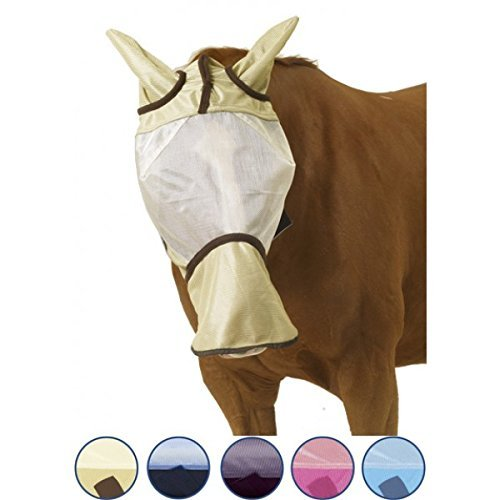 Blue Protective Fly Sheet (Centaur Super Fly Fly Mask - Long Nose - Size:Horse Color:Ice)