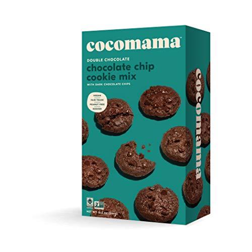 (COCOMAMA Double Chocolate Chip Cookie Mix - Vegan Chocolate Baking Mix, Dark Chocolate Chips, Organic Fair Trade Cocoa Powder, Non GMO, Kosher, 12.3 oz)