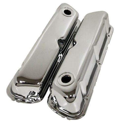 1962-85 Compatible/Replacement for Ford Small Block 260-289-302-351W Steel Valve Covers - Chrome