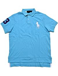 Polo Ralph Lauren Men\u0026#39;s Custom Fit Mesh Big Pony Shirt