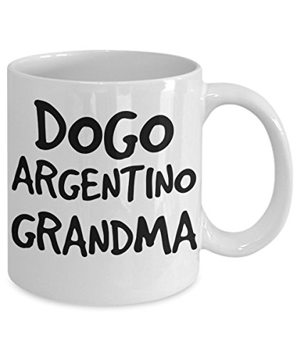 Dogo Argentino Grandma Mug - White 11oz Ceramic Tea Coffee Cup - Perfect For Travel And Gifts 2