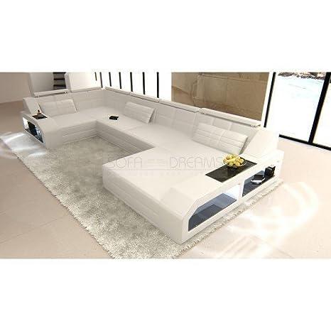Juego de sofás Arezzo forma de U Blanco Diseñador Conjunto ...