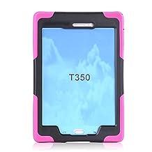 "Lumcrissy amsung galaxy Tab Galaxy Tab A 8.0"" Children Kids Drop Proof Shockproof dust-proof hard armor Heavy Duty design with Kickstand Protective Case For Samsung galaxy Tab Galaxy Tab A 8.0 SM-T350 (Rose)"